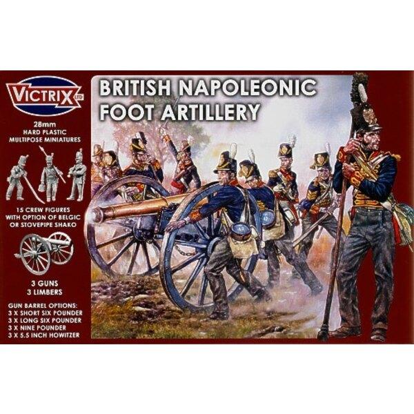 Artillerie à pied britannique, époque napoléonienne. De la guerre de péninsule espagnole à Waterloo. Vous pouvez faire des canon