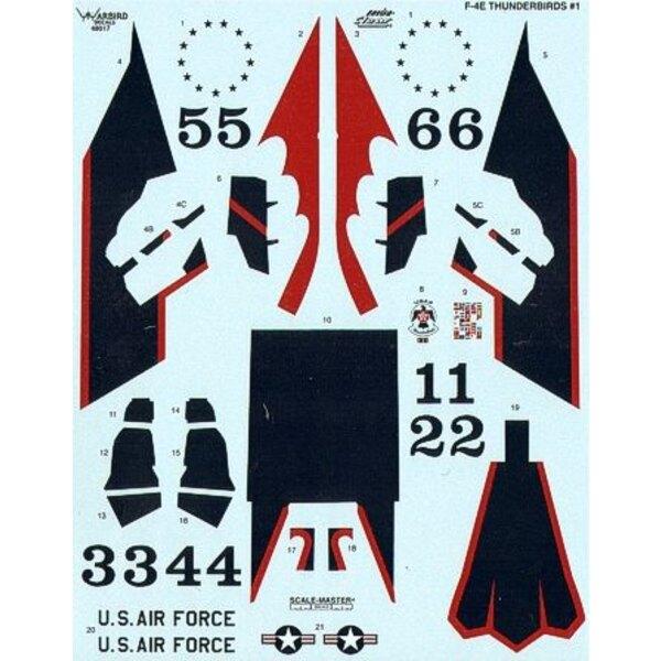 Décal F-4E Phantom Thunderbirds 1972-1973