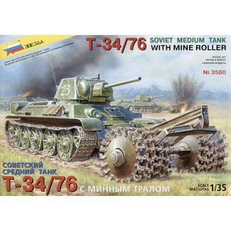 T-34/76 avec rouleau démineur
