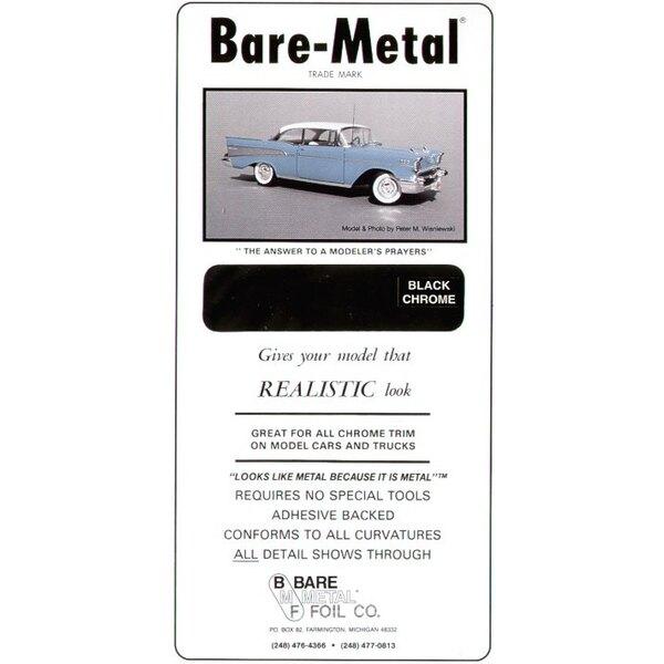 Feuille de métal BARE METAL Black Chrome (auto-adhésif)