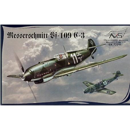 Messerschmitt Bf 109C-3 : chasseur allemand de la 2ème GM.