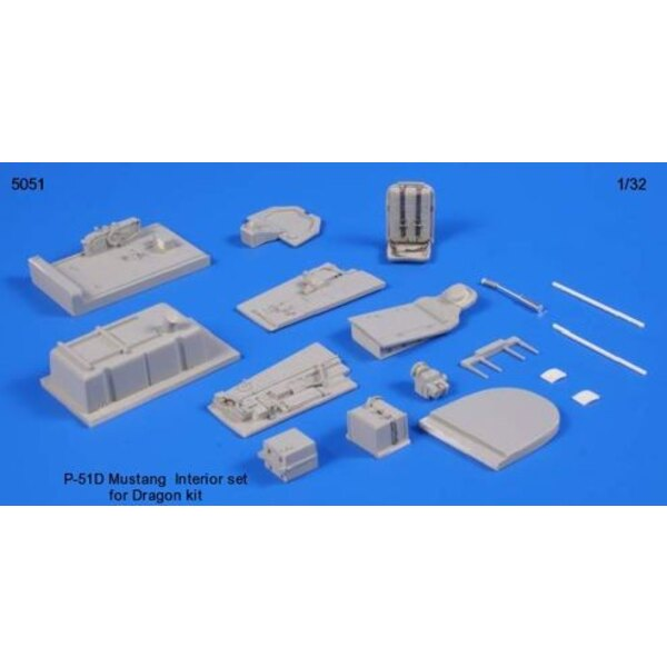 North American P-51D Mustang interior set (designed to be used with model kits from Academy and Dragon)