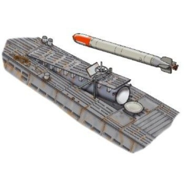 Type d'U-boot VIIc écoutille de torpilles ; Le kit contient les torpilles et le matériel de chargement (pour maquettes Revell)