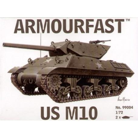 M10 US Tank Destroyer: Le pack contient 2 maquettes de char à monter sans colle