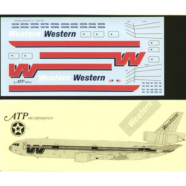 McDonnell Douglas DC-10 -10. WESTERN Airlines. Polished fuselage