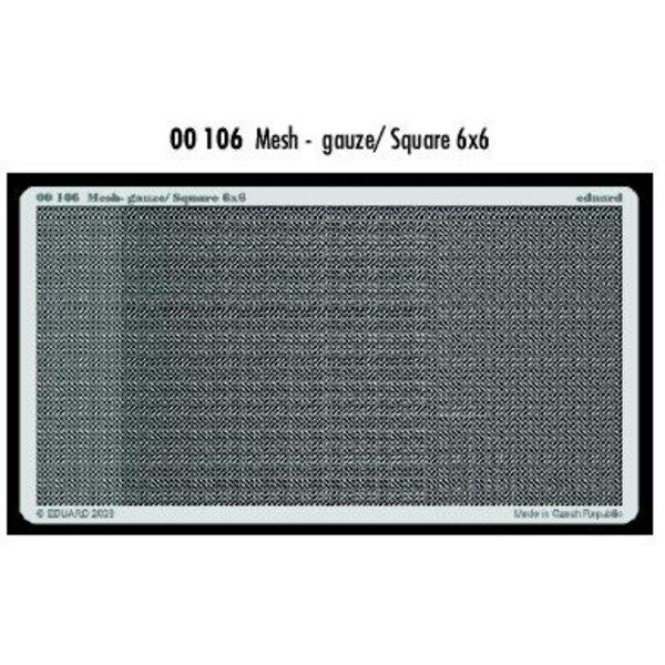 Maille - gaze/carré 6 x 6