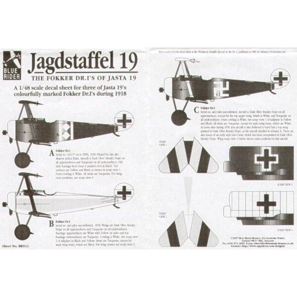 Fokker Dr.I (3) Jasta 19