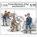 2 pilotes français de la 2ème gm + mécanicien