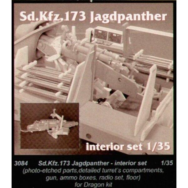 Intérieur de Jagdpanther (pour maquettes Dragon)