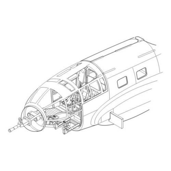 Heinkel He le 111D - intérieur (pour maquettes Hasegawa)