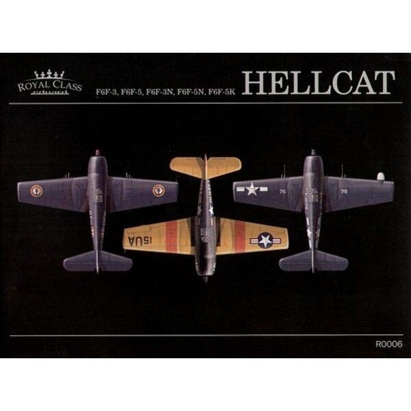 Grumman F6F Hellcat ROYAL CLASS. Les contenus de la boîte incluent : deux maquettes (Grumman F6F-3 et F6F Grumman-5), des pièces