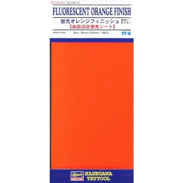 Plaque de finition orange 90 x 200 mm (il s'agit d'un film à collage à la vapeur qui est adapté aux surfaces incurvées; vous pou