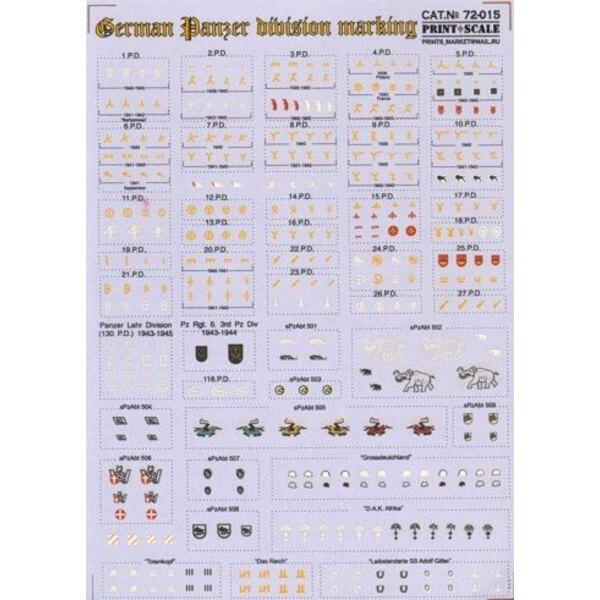 Marquage de division de Panzer