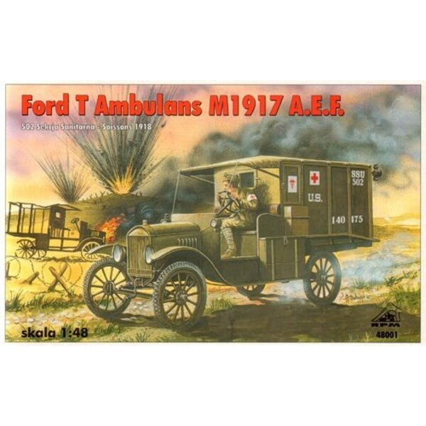 Ford T Ambulans M1917 A.E.F