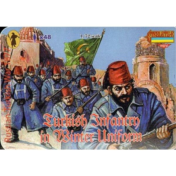 L'Infanterie turque de la guerre Russo-turque de 1877 ; uniforme d'hiver 1877