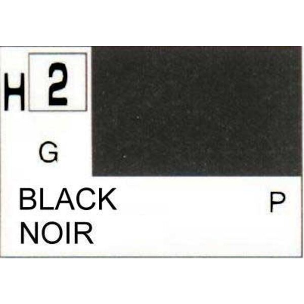 H002 Noir brillant