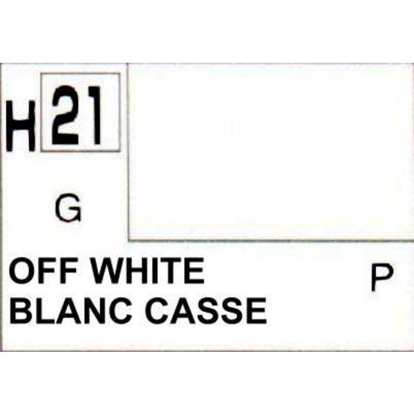 H021 Blanc legerement teinté