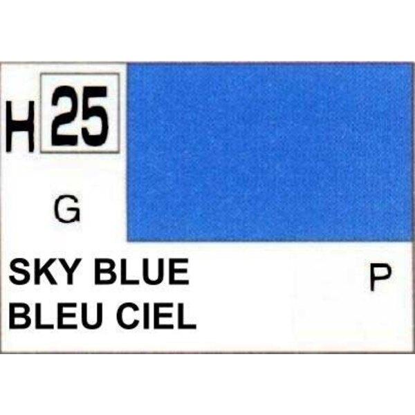H025 Bleu ciel brillant