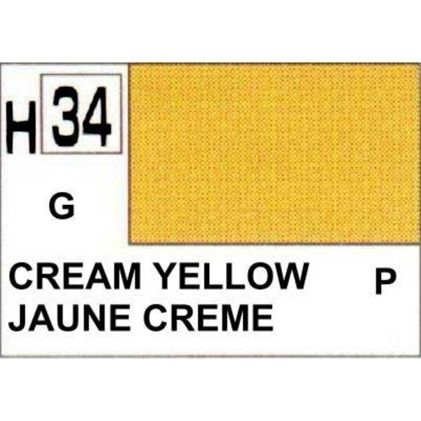 H034 Jaune creme brillant