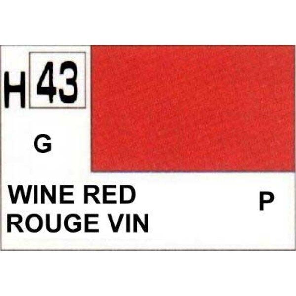 H043 Rouge vin brillant