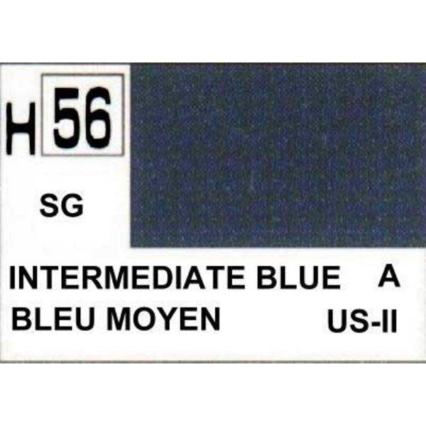 H056 Bleu intermediaire mat