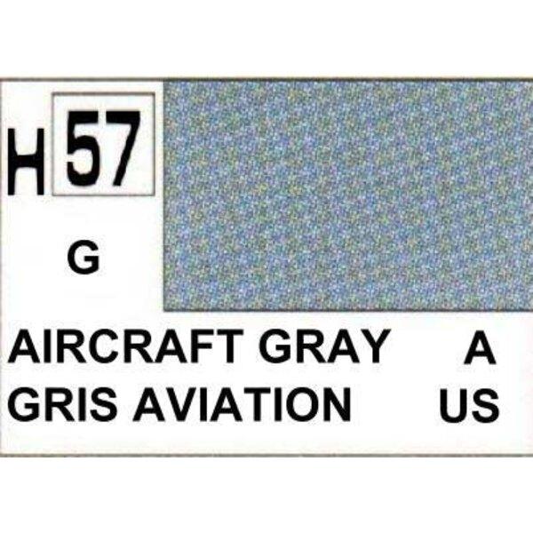 H057 Gris avion brillant