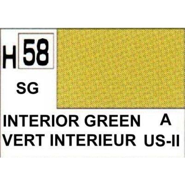 H058 Vert intérieur mat
