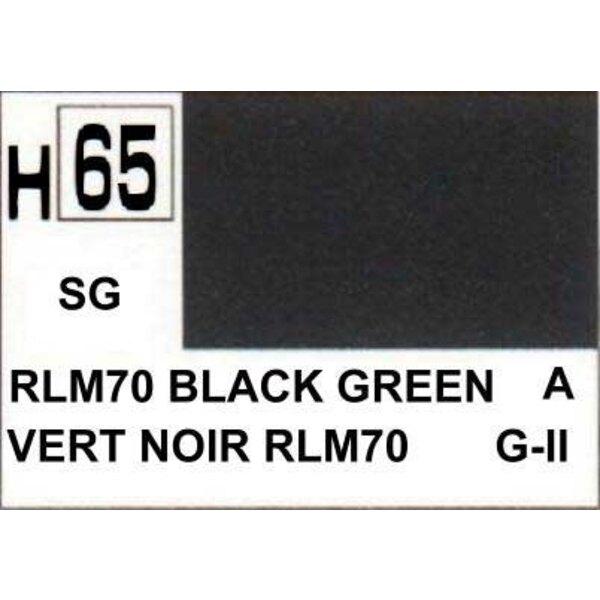 H065 Black Green matt