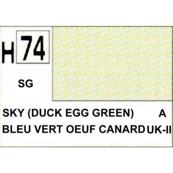 H074 Vert oeuf canard mat