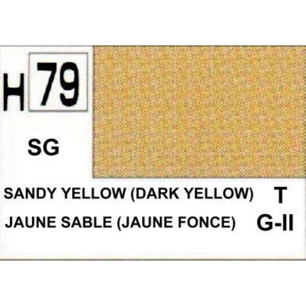 H079 Jaune Sable foncé mat