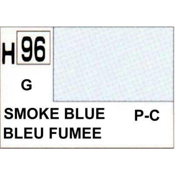 H096 Bleu fumée brillant