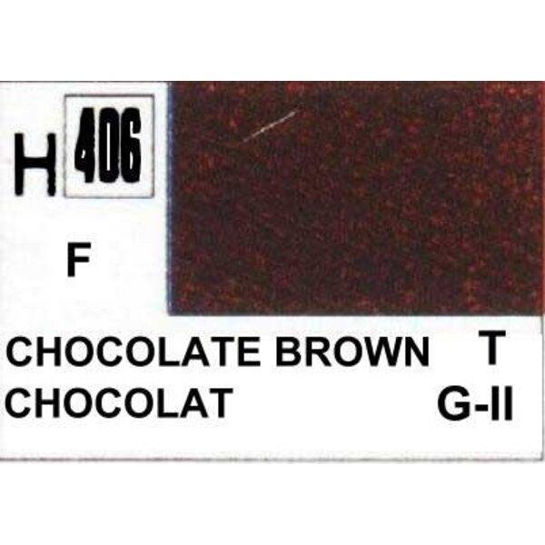 H406 Marron chocolat mat