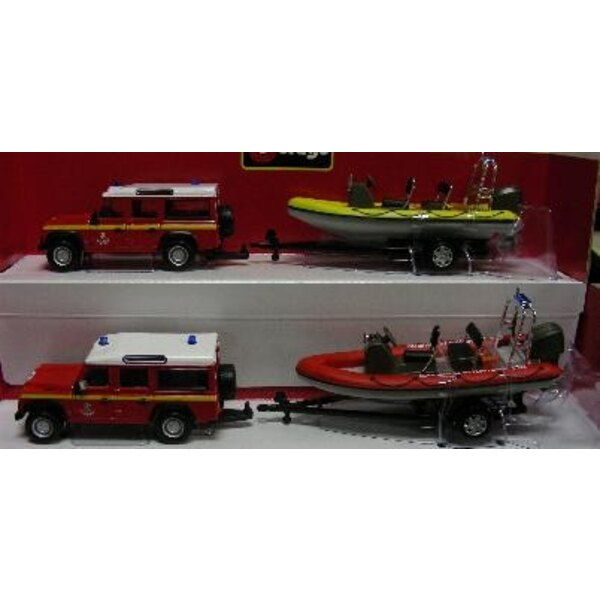 vehicule pompier+bateau 5mod