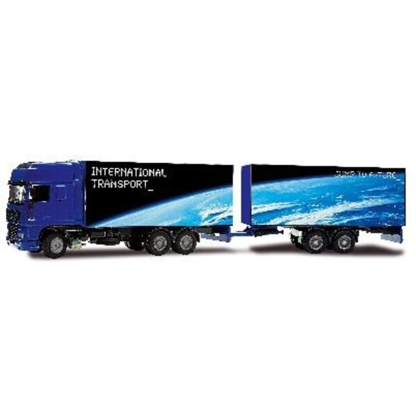 Camion DAF XF double remorque 1/50