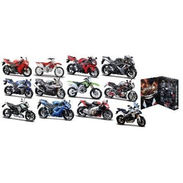 Display 12 Assorted Motos Kit 1:12