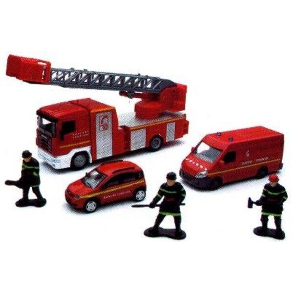 coffret pompier cam.ech+2voit 1/43