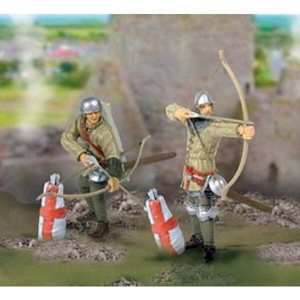 Hommes d'armes x2 guerre de 100 ans 1/32