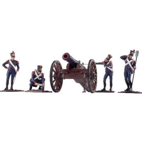 artillerie francaise a pied 4fig 1/24 - ATTENTION : la canon n'est pas inclus