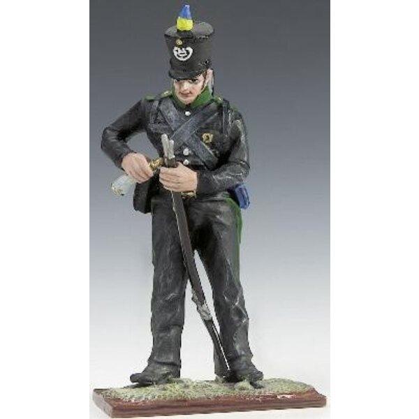 soldat pruss.fusil+corne 1/24