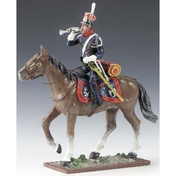 soldat francais+cheval+tromp 1/24