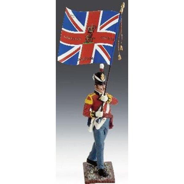 soldat britannique+bannier 1/24