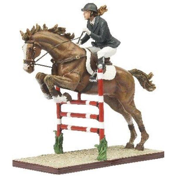 cavalier av/cheval+barrier 1/18