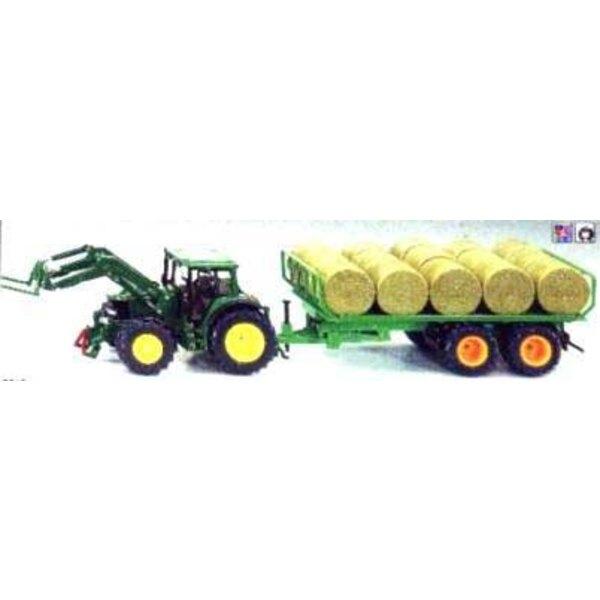 tracteur +rem.balles rondes 1/32
