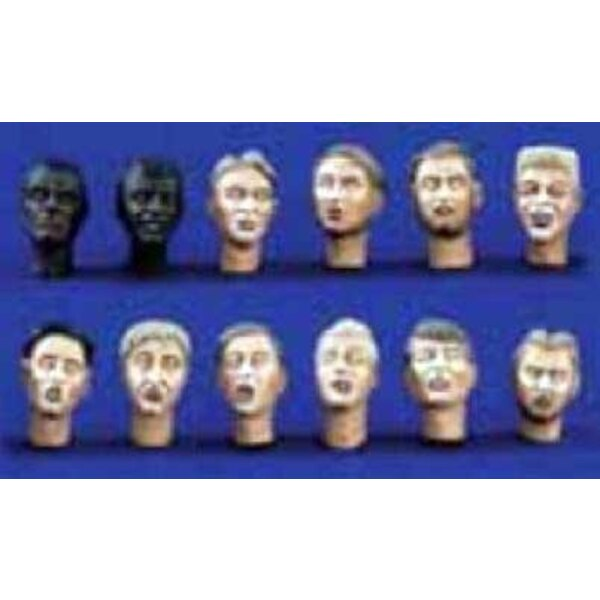 Character Heads 2 X 12 1:35