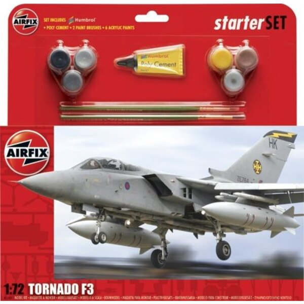 Tornado F.3 Starter Set includes Acrylic paints brushes and poly cement