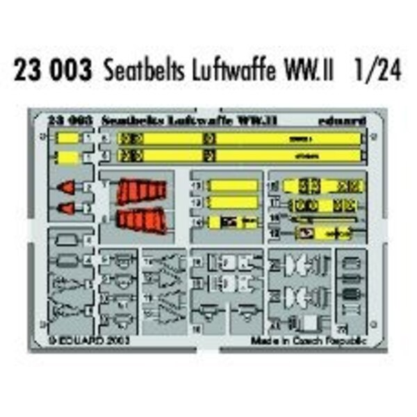 ceintures de la Luftwaffe 2ème GM pré-peintes en couleur