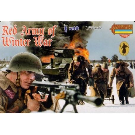 Armée rouge en uniforme d'hiver
