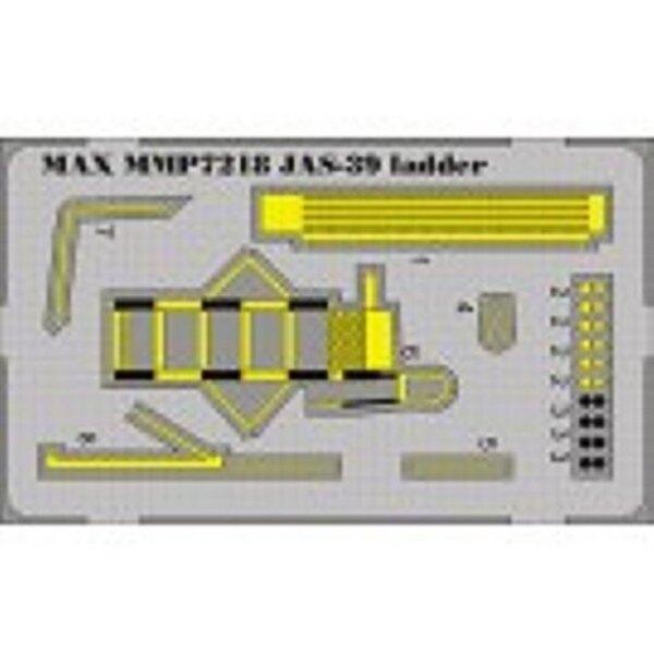 Echelle d'accès de SAAB JAS39 Gripen PRÉ-PEINTE (pour maquettes Hasegawa)