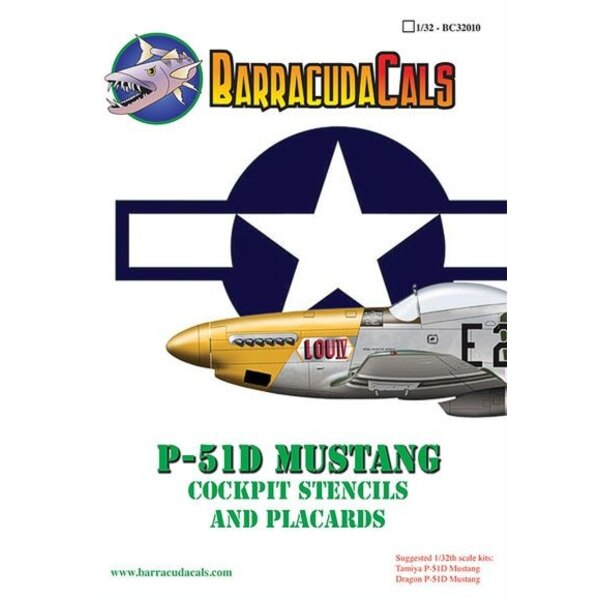 Décal P-51D Mustang Stencils and Placards
