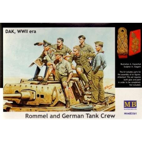 Rommel et équipage de Char allemand, Afrika Korps, 2ème GM